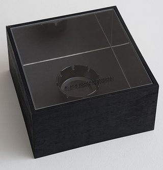 Tom Burr: BLACK ASHTRAY (SMOKE), 2000