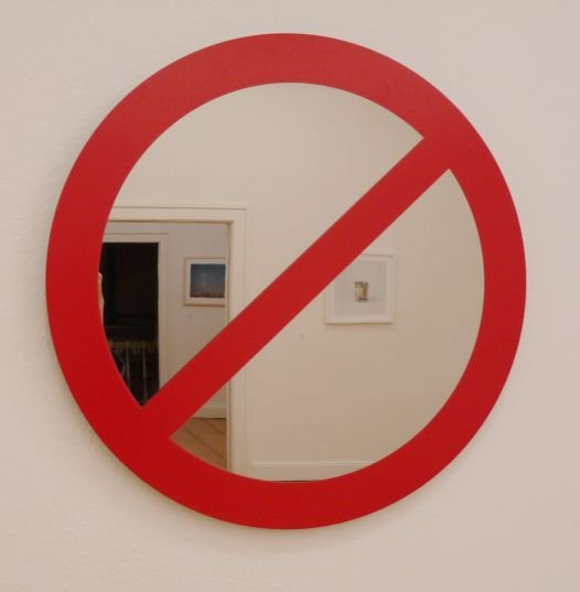 Javier Téllez: Untitled (mirror sign)